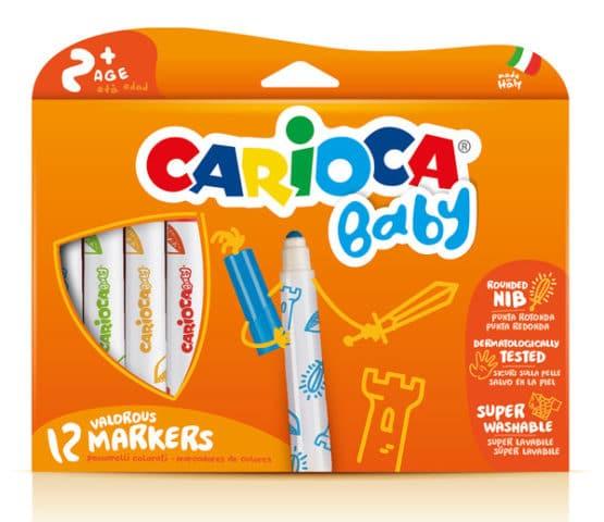 Carioca Jumbo Bebek Süper Yıkanabilir Keçeli Boya Kalemi 12li